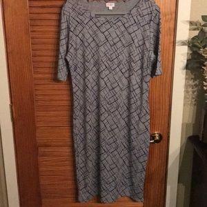 LulaRoe Julia dress - size 2XL - Gray & Purple